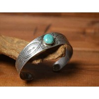 Vintage Indian jewelry アーリーツーリスト インゴット 卍(Whirling Log) バングル