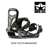 2016 ROME ローム バインディング YOUTH BINDING MINISHRED BLACK