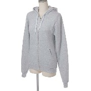 (アメリカンアパレル)American Apparel MT497 Unisex Salt and Pepper Zip Hoody パーカー C.G.4/Dark Ash Grey XS ...