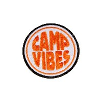 POLeR(ポーラー) CAMP VIBES IRON-ON PATCHES 506066 ORANGE
