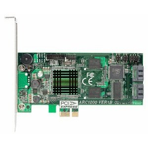 ARECA Serial ATA II PCI-Express x1 Bus 2ポートRAIDカード ARC-1200