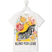 Gucci Kids Blind For Love Tシャツ