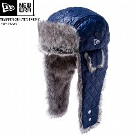NEW ERA newera ニューエラ ハット TRAPPER QUILTED FABRIC FABRIC NAVY 防寒