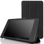 MoKo Ultra Slim Lightweight Smart-shell Stand Case for Google Nexus 7 FHD 2nd Gen (BLACK)