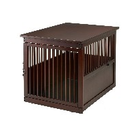 Richell 木製 お掃除簡単 ペット クレイト L 室内用 50391 USA仕様 / Wooden End-Table Pet Crate L