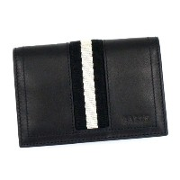 バリー カードケース BALLY TRAINSPOTTING TOBEL BUSINESS CARD HOLDER 290 BLACK BLACK/WHITE NEW CASBAH 並行輸入品