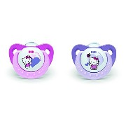 NUK Hello Kitty 2 Dummies Age 18-36 Months by NUK