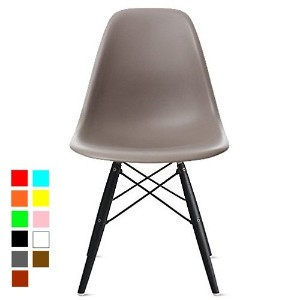 【Hilax】 Eames イームズチェア リプロダクト (グレー/木製ダークブラウン)