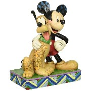 Disney Traditions Mickey & Pluto Collectible Figurine [並行輸入品]