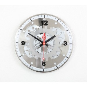 Maple's 12-Inch Moving Gear Wall Clock, Glass Cover [並行輸入品]