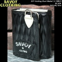 SAVOY CLOTHINGサヴォイクロージング◆SVY Quilting Short Wallet◆◆三つ折り財布◆◆BLACK◆SVY-WLT014