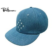 Ron Herman ロンハーマン COOPERS TOWN BALL CAP クーパーズ タウン コラボ 2016 Denim Star Ball Cap STAR BLUE キャップ