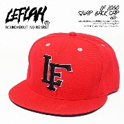 (レフラー)LEFLAH LF LOGO SNAP BACK CAP -RED- FREE