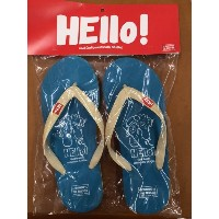 (BURNING THE REGISTER)HELLO BEACH SANDALS ターコイズ L (約26.5cm)