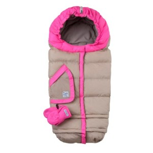 7A.M. ENFANT BLANKET 212 evolution ベビーカーフットマフ Beige/Neon Pink