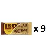 ウィッタカー Whittakers Chocolate Bar L & P Slab 50g 9 ea [並行輸入品]