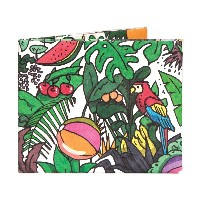 The Rainforest Magic 二つ折り 紙財布 スリム Bifold Paper Wallet Slim The Walart Mighty Tyvek Dynomighty