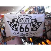 ROUTE66 FLAG ルート66 フラッグ (チェッカ-) アメリカ雑貨 アメリカン雑貨