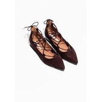 Other Stories☆Pointy Suede Lace-Up Flats(バーガンディー Other Stories(アンドアザーストーリーズ) バイマ BUYMA