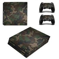 Zhhlinyuan スキンステッカー Vinyl Decal Cover for PlayStatio PS4 Pro Console+Controllers ZY0019#