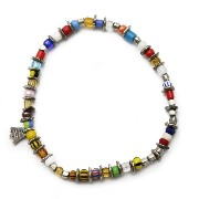 [アンプジャパン]amp japan escape / 12AHK-352 / TRICOLOR IN AFRICAN BEADS BLECLET FREE TRICOLOR