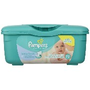 Pampers Baby Wipes Tub Fresh Baby Fresh 72-Count (並行輸入品)