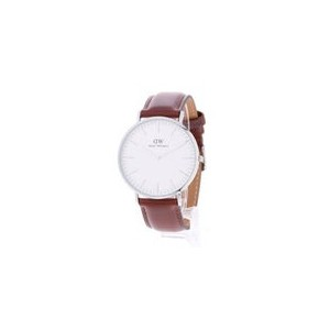 【SALE 40%OFF】ダニエル ウェリントン Daniel Wellington St Mawes Silver 40mm (BROWN)