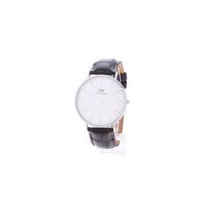 【SALE 40%OFF】ダニエル ウェリントン Daniel Wellington York Silver 40mm (D/BROWN)