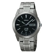 Seiko Men's SGG731 Titanium Silver Dial Watch [並行輸入品]