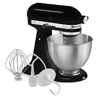 キッチンエイド KitchenAid K45SSOB 4.5-Quart Classic Series Stand Mixer, Onyx Black スタンドミキサー [並行輸入品]