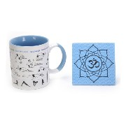 How to Yoga Mug with Om Coaster