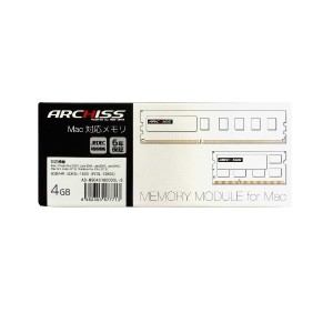 ARCHISS Apple Mac用増設メモリ 6年保証 / iMac 27インチ mid 2015対応 PC3-12800 4GB 204Pin AS-MS04G1600D3L-S