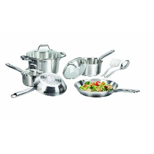 T-Fal-Wearever C811SA64 Elegance 10PC Cookware SS