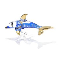 Handmade Dolphin Art Glass Blown Sea Animal Figurine by We Are Handmade Figurine Art Glass Blown ...