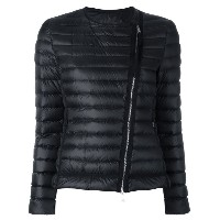 Moncler collarless quilted jacket