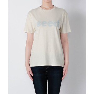 【SALE(伊勢丹)】 SEED(6397 NT006PーSEED 16SS) WHITE/BLUE レディースウエア~~その他トップス