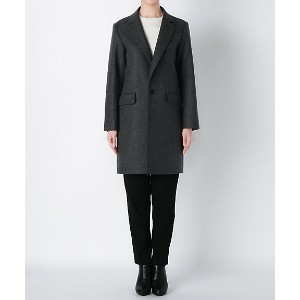 【SALE(伊勢丹)】<ROUTINE FOR beautiful people> W/cash W cloth melton oversize coat(3635103002) gray...