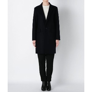 【SALE(伊勢丹)】 ROUTINE FOR beautiful people  W/cash W cloth melton oversize coat(3635103002) navy...