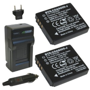 Wasabi Power バッテリー2ケ+充電キット 並行輸入品 Leicaライカ BP-DC4, C-Lux 1, D-Lux 2, D-Lux 3, D-Lux 4 Ricoh リコー...