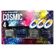LA COLORS Cosmic Effect Nail Polish Set Metallic/Glitter (並行輸入品)
