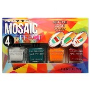 LA COLORS Mosaic Effect Nail Polish Set Solids (並行輸入品)