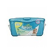 Pampers Natural Clean Baby Wipes 72 Wipes Unscented [並行輸入品]