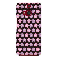 【送料無料】 かわいいデイジー柄ピンクと紫 design by ARTWORK / for HTC J butterfly HTL23/au 【Coverfull】au htl23 htc j butterfly...