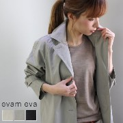 evam eva(エヴァムエヴァ) cotton hemp trench coat 3colormade in japane171t036-f