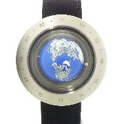 【SEIKO】【電池交換済】セイコー『地球時計 Think the Earth』wh-1 ボーイズ クォーツ 1ヶ月保証【中古】b02w/h03A