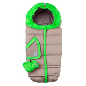 7A.M. ENFANT BLANKET 212 evolution ベビーカーフットマフ Beige/Neon Green