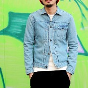 "【KURO:クロ】961610/""Crow Denim Jacket""Vintage Wash 03"