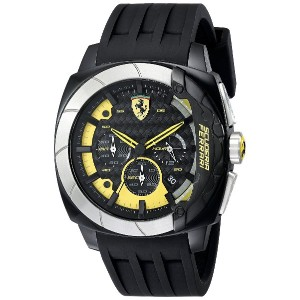 フェラーリ Ferrari Men's 830206 Aerodinamico Black Watchwith Silicone Strap [並行輸入品]