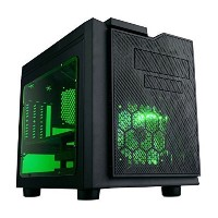 APEVIA X-QPACK3-GN Micro ATX Cube Gaming/HTPC ケース, Supports ビデオ Card up to 320mm/ATX PS, 2xGreen...