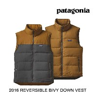 2016 PATAGONIA パタゴニア ベスト REVERSIBLE BIVY DOWN VEST FGE FORGE GREY